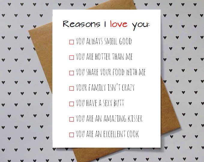girlfriend Funny I love you card for boyfriend wife husband