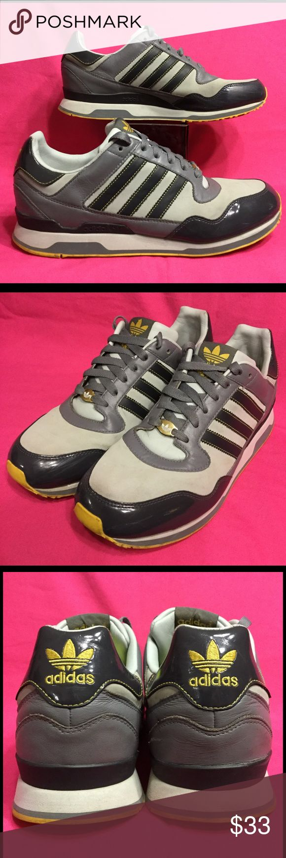 ADIDAS ZXZ LEA leather black/grey . w10.5 m8.5 42 Gentle wear . No issues . Gray nylon area has some discoloration . adidas Shoes