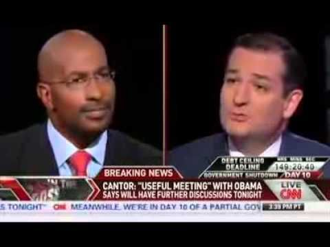 Ted Cruz FULL Appearance on Crossfire - Clashes with Van Jones - October...