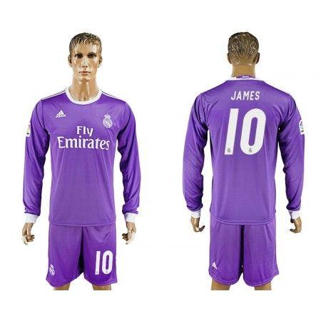 Real Madrid 16-17 #James Rodriguez 10 Bortatröja Långärmad,304,73KR,shirtshopservice@gmail.com