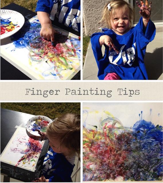 tips to make finger painting enjoyable for everyone...: Painting Tips, Kid Art Projects, Finger Painting, Kids Crafts, Painting Enjoyable, Kid Stuff, Kidstuff