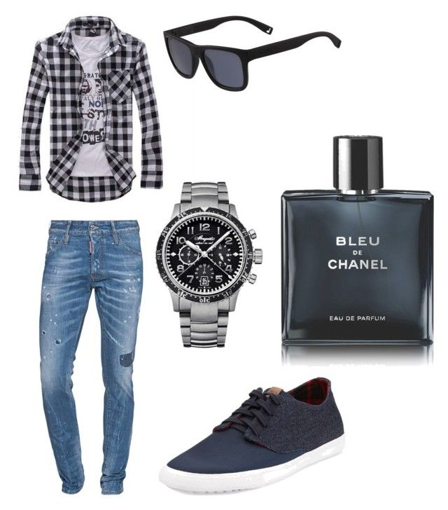 """Untitled #21"" by bosniafashion ❤ liked on Polyvore featuring Dsquared2, Ben Sherman, Breguet, Lacoste, Chanel, men's fashion, menswear and MothersDayBrunch"