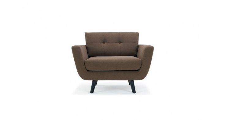Vera, Chair, Lux Chestnut Brown, Black Low Gloss Legs