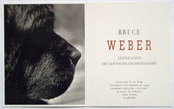 ブルース・ウェーバー写真展の招待状「Robert Miller Gallery」(1994) : ガレリア・イスカ通信