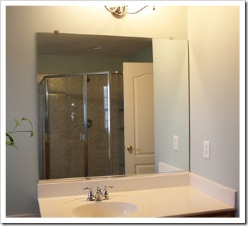 how to frame a mirror large bathroom - Large Bathroom Mirror
