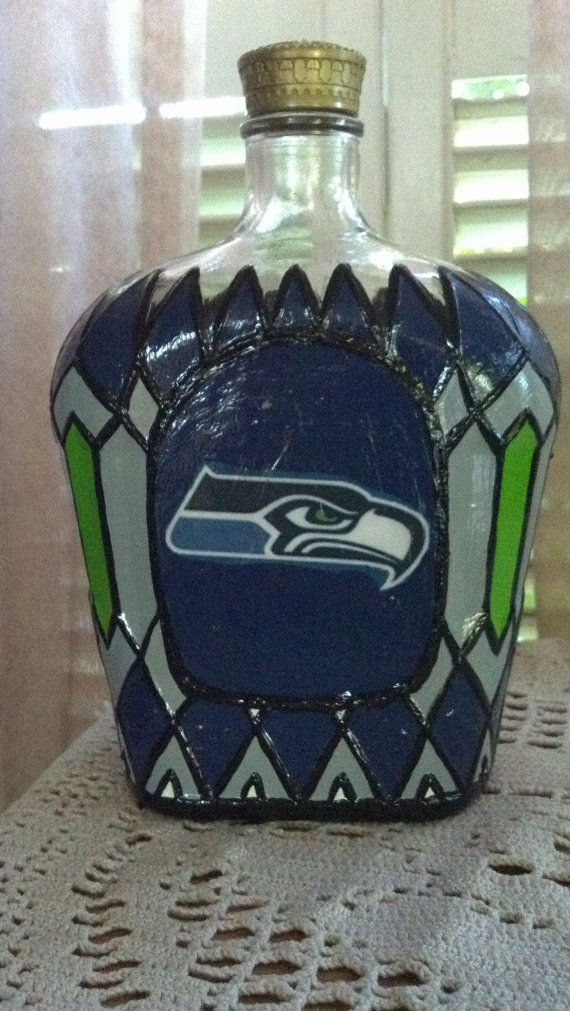 Seattle Seahawks Football Crown Royal Whiskey by PattiesPassion, $65.88