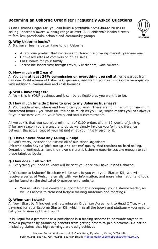 9 best images about Working from home with Usborne on Pinterest - commission sales agreement