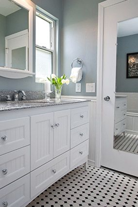 Bathroom Makeover And Decorating Ideas A Less Deep Vanity Exposes More Of The Black