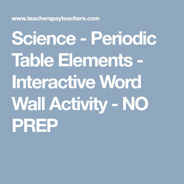 The 25 best periodic table words ideas on pinterest periodic science periodic table elements interactive word wall activity no prep urtaz Image collections
