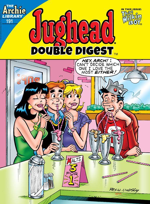 Jughead Double Digest 191, Archie Comic Publications, Inc. https://www.pinterest.com/citygirlpideas/archie-comics/