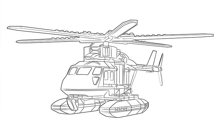 LEGO Coloring Sheet 60067 Helicopter Pursuit
