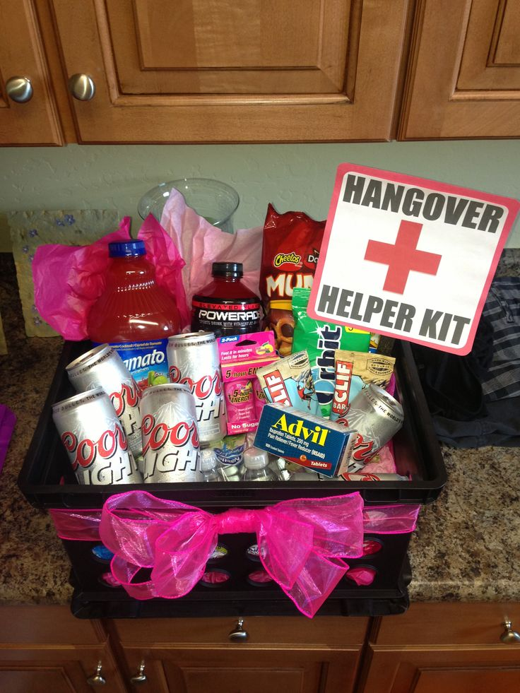 21st birthday hangover recovery kit diy crafts for 21st birthday decoration packages