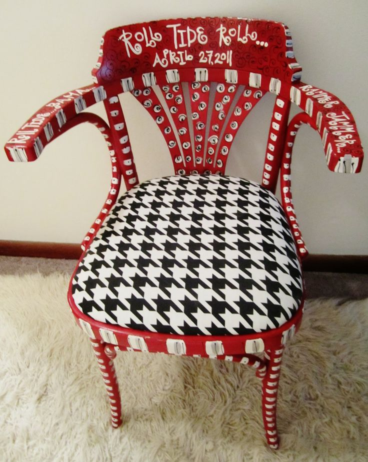 funky baby furniture. wonderful baby emilyu0027s original art funky furniture  donu0027t like alabama but could do  this for auburn or other favorite team throughout baby i