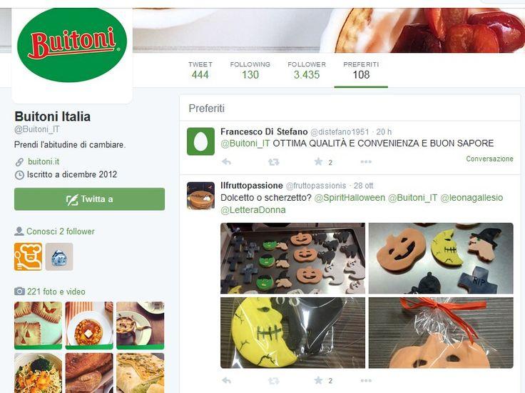 Orgogliosi di essere tra i preferiti di Buitoni Italia. @buitoniitalia Tratto da https://twitter.com/Buitoni_IT/favorites