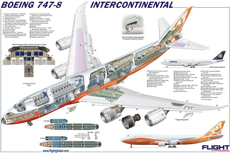 Boeing 747-8 Intercontinental cutaway diagram