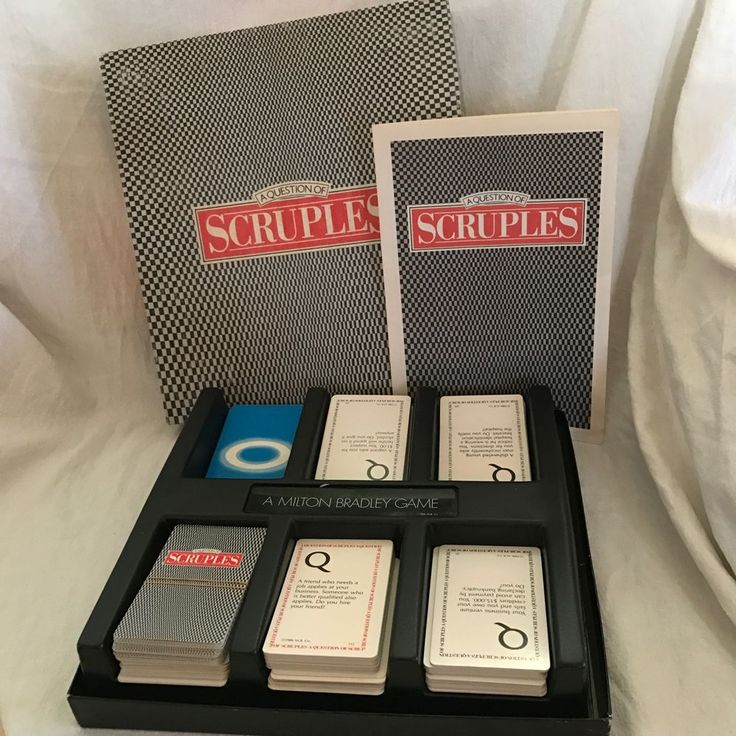 Milton Bradley 1986 A Question Of Scruples Party Card Game Complete 1st 2nd Ed
