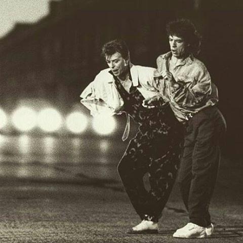 Dancing in the street  #davidbowie#mickjagger#davidbowiemickjagger