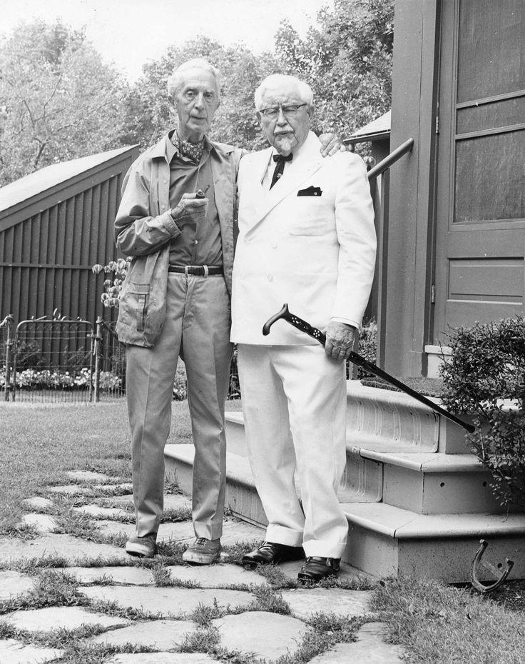 Vintage photo of Colonel Sanders & Norman Rockwell. Peter Gumaer Ogden Collection