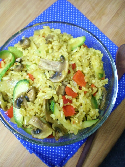 Pilaf de Arroz Integral- vegetables and rice