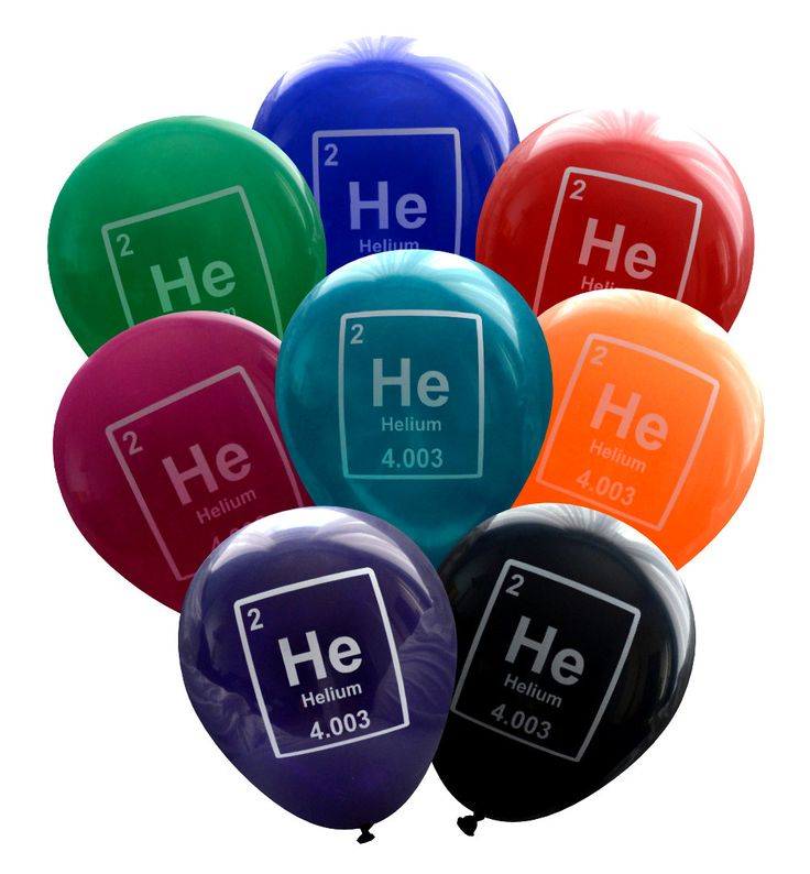 Add some science-themed nerdiness to your party decorations! These helium periodic table element balloons are sure to be a hit with the science geeks in your life.  If you would like a different color scheme, we also have standard bright colors here: http://etsy.me/1qs2hW4  BALLOON SPECIFICATIONS: - 8 multi-coloured balloons (crystal colours: ruby red, purple, orange, green, black, dark blue, burgundy and teal) - Size: ~11 - Printed in Canada with a Helium periodic table elemen...