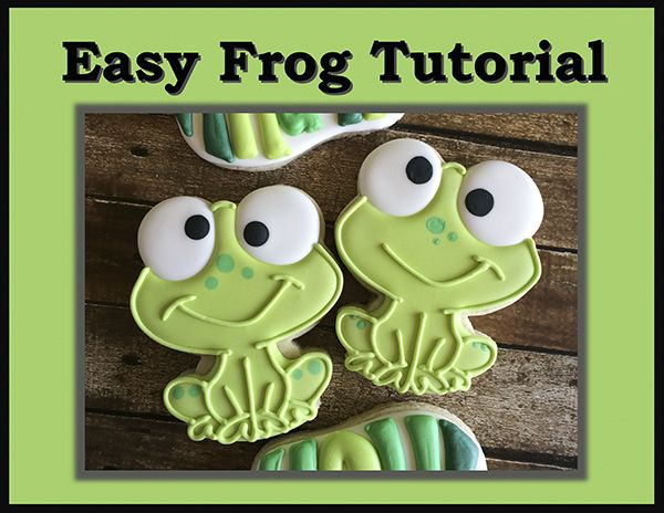 Cute and Easy Frog Cookie - SugarEd Productions Online Classes