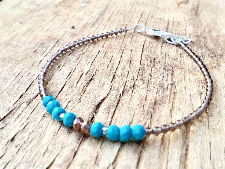 A personal favourite from my Etsy shop https://www.etsy.com/no-en/listing/526644540/skinny-bracelet-turquoise-bracelet