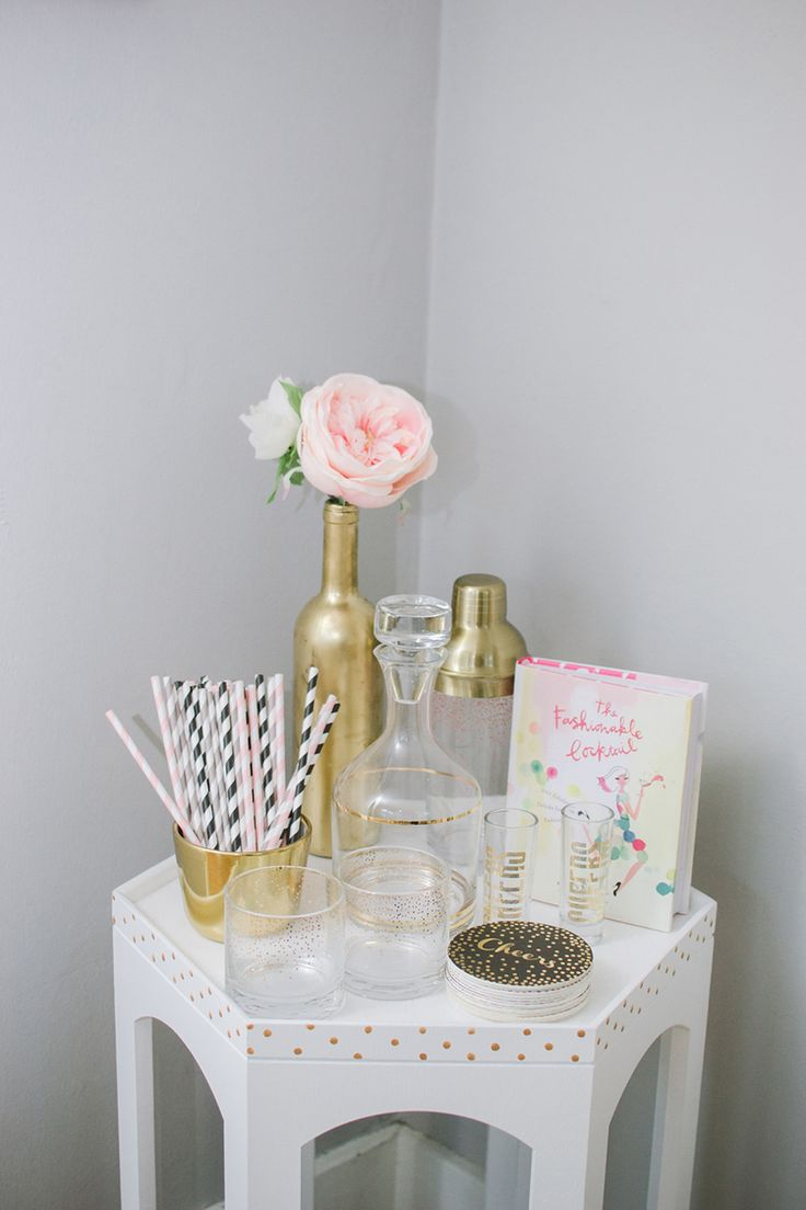 Simply Jessica Marie Home Studio | Zipporah Photography | Bar Cart Styling