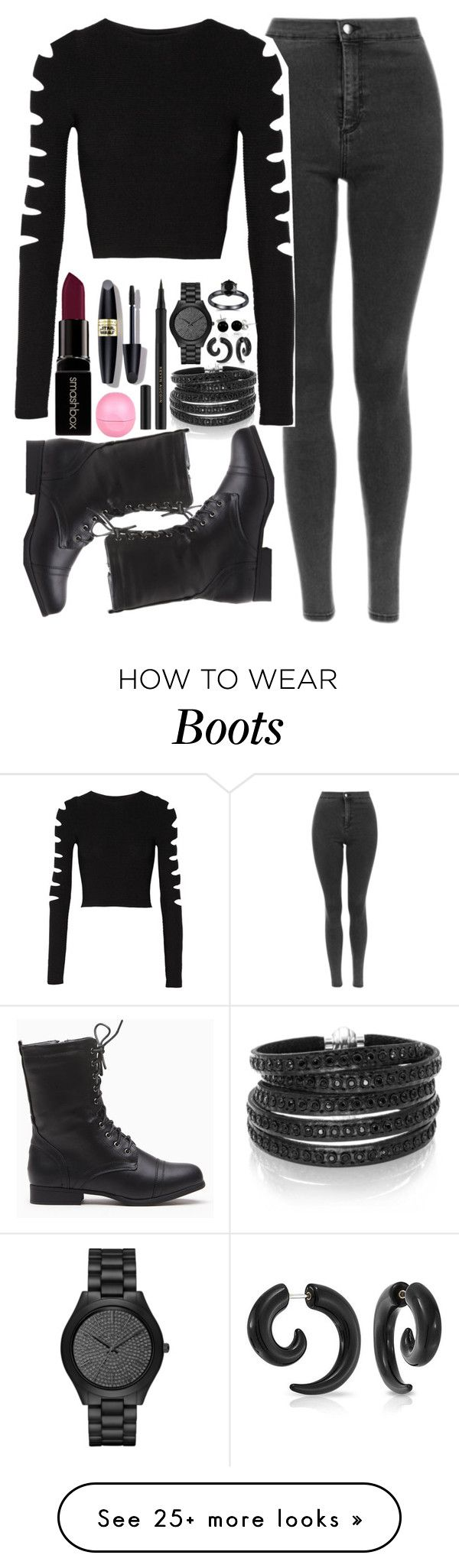 """""""Shadowhunter Style"""" by lalalasprinkles on Polyvore featuring Sif Jakobs Jewellery, Cushnie Et Ochs, Bling Jewelry, Smashbox, River Island, Max Factor, Kevyn Aucoin, Michael Kors, women's clothing and women's fashion"""