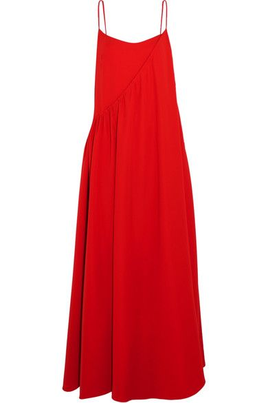 Adeam - Layered Crepe Gown - Tomato red - US10