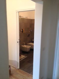 Vista del bagno ristrutturato