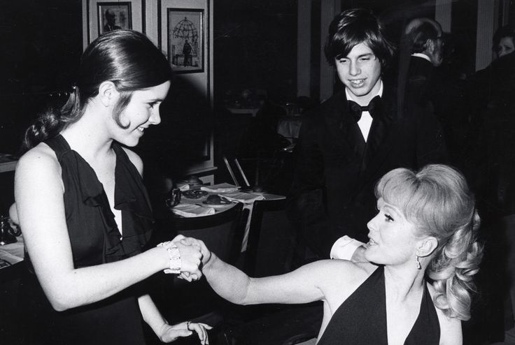 Carrie Fisher, Todd Fisher and Debbie Reynolds during Opening of 'Irene' - March 13, 1973 at Minskoff Theater in New York City, New York, United States. (Photo by Ron Galella/WireImage) via @AOL_Lifestyle Read more: http://www.aol.com/article/entertainment/2016/12/25/debbie-reynolds-says-daughter-carrie-fisher-in-stable-condition/21641890/?a_dgi=aolshare_pinterest#fullscreen