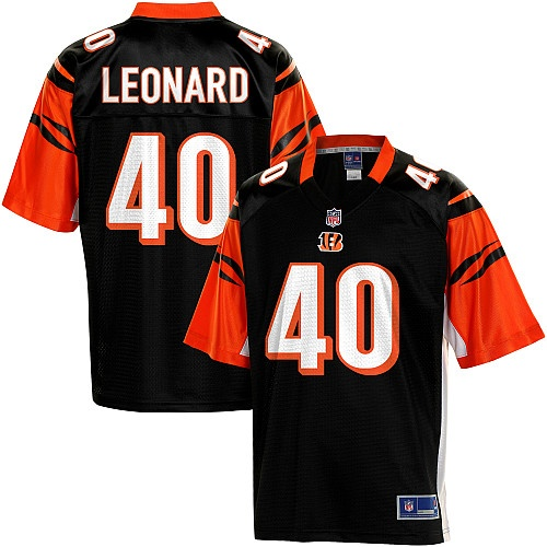 Men's Pro Line Cincinnati Bengals Brian Leonard Team Color Jersey