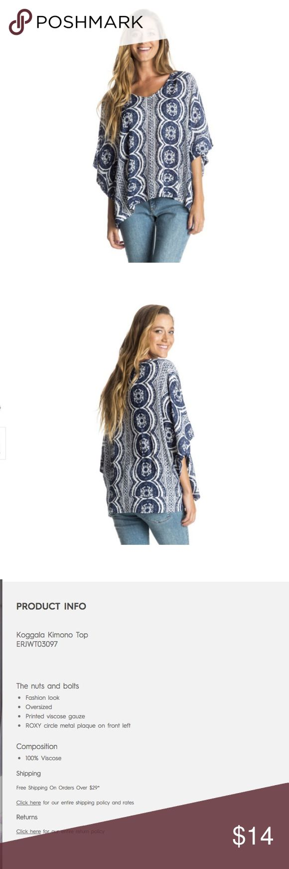 Roxy kimona shirt 100% viscose, only worn once, roxy tribal print kimono shirt Roxy Tops