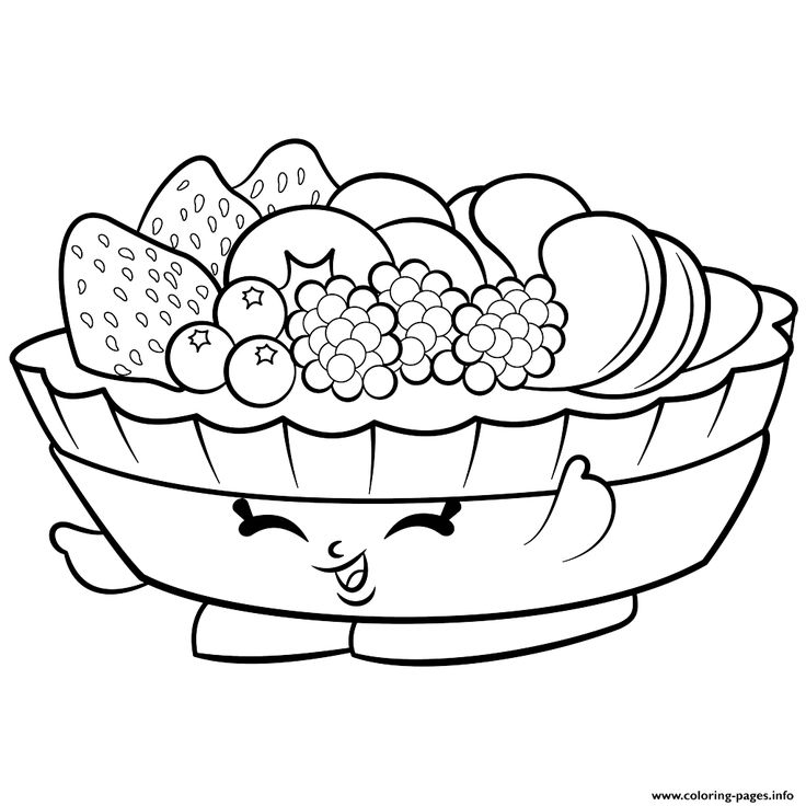 Print Exclusive Fifi Fruit Tart to Color shopkins season 2 coloring pages