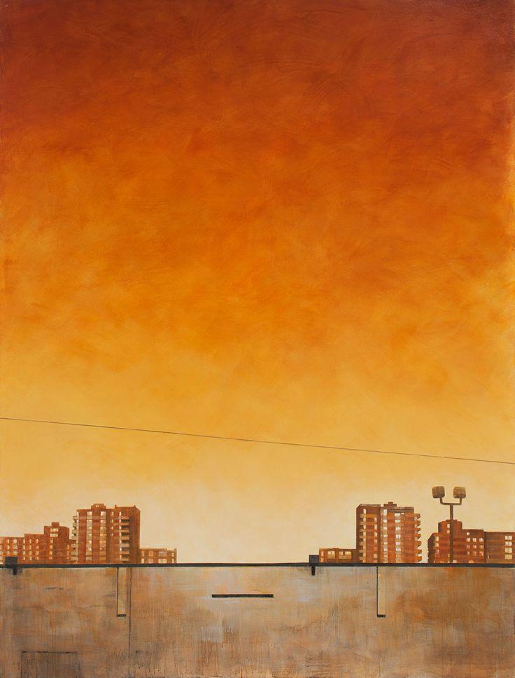 """Cul-de-sac at East 72nd Street 2014 acrylic on canvas 86"""" x 65"""""""