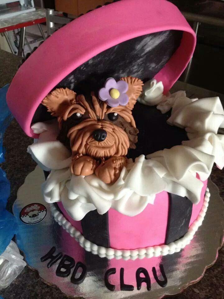 Puppy in a box cake