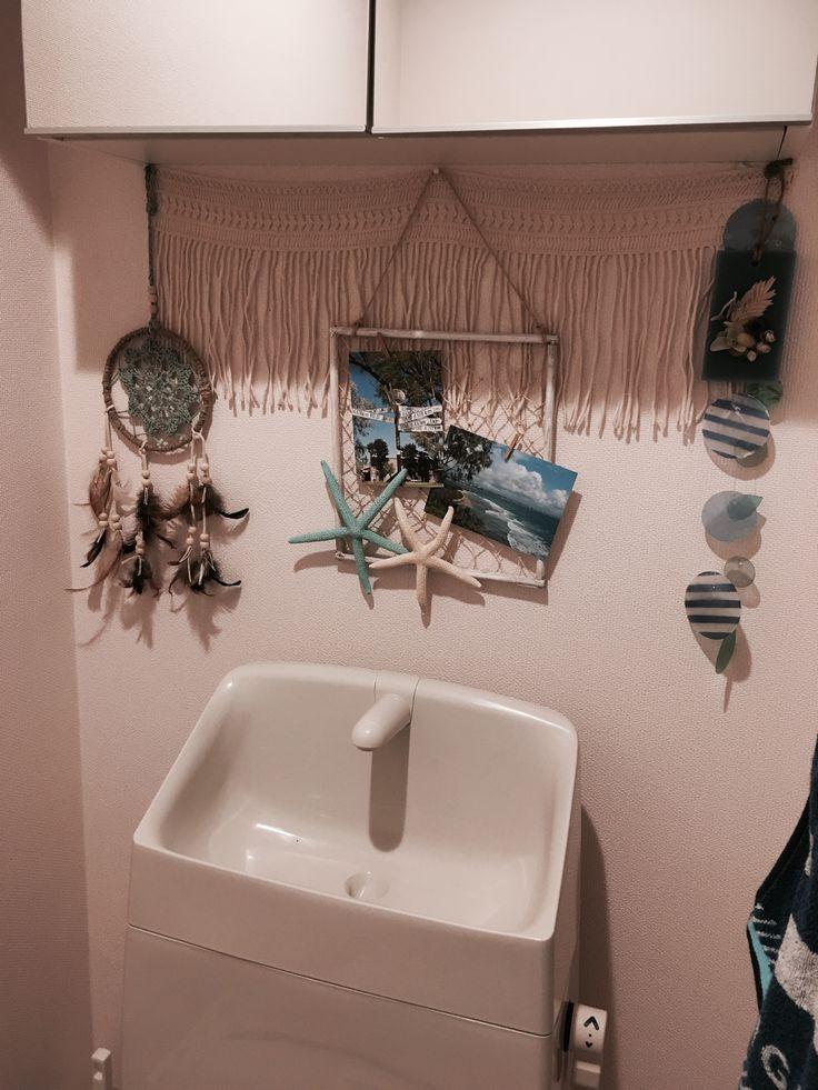 引っ越して1ヶ月。ようやくトイレの飾りに取りかかりました◡̈⃝︎⋆︎*