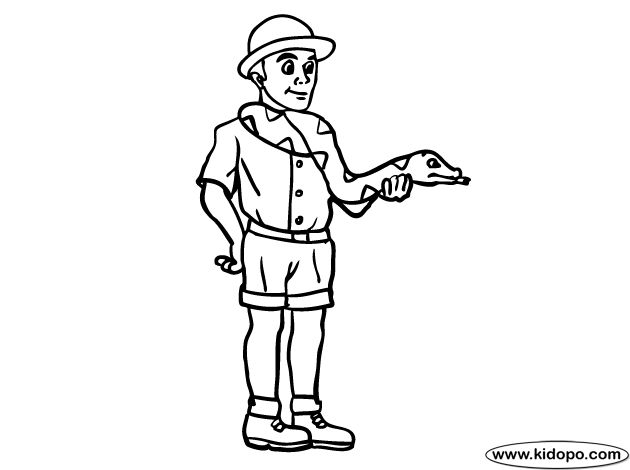 zookeeper coloring pages - photo#5