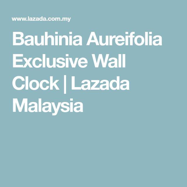 Bauhinia Aureifolia Exclusive Wall Clock Wall Clocks