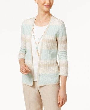Alfred Dunner Ladies Who Lunch Layered-Look Sweater - Multi XL