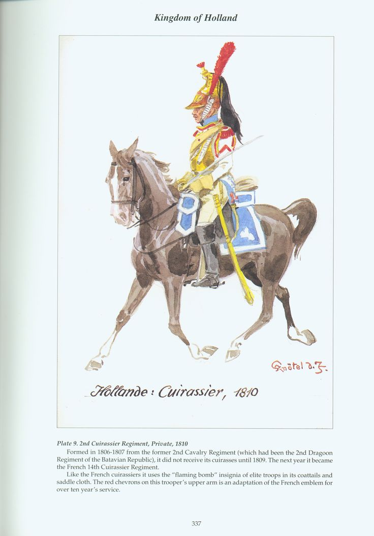 Kingdom of Holland: Plate 9. 2nd Cuirassier Regiment, Private, 1810
