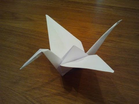 Paper: printer paper Size: A4 How To Make an Origami Crane In this easy tutorial I show you how to make a crane from one regular sheet of printer paper. Go t...