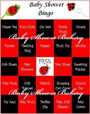 Ladybug Baby Shower Bingo - printable set of 40 baby shower bingo cards to keep guests involved while mommy opens her gifts! $15.00 #ladybug #baby #shower #bingo #game #printable
