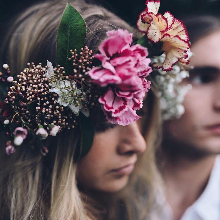 carnation flower crown / Jason Corroto photography