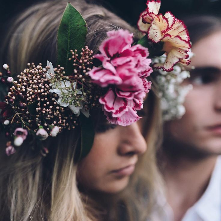 carnation flower crown / Jason Corroto photography