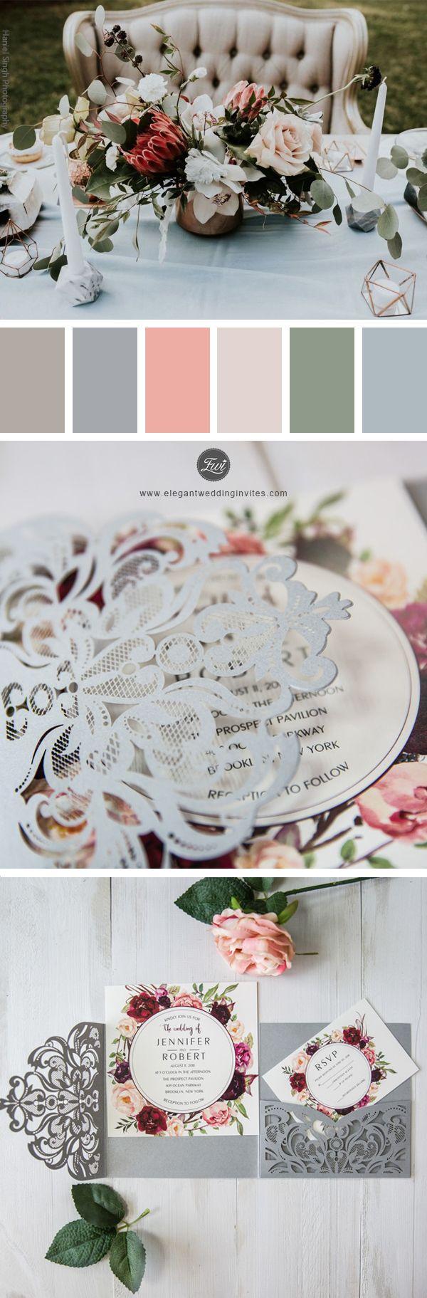 Best 25 grey wedding invitations ideas on pinterest wedding grey laser cut burgundy floral wedding invitations ewws177 wedding weddinginvitations weddingtrends wedding2018 monicamarmolfo Choice Image