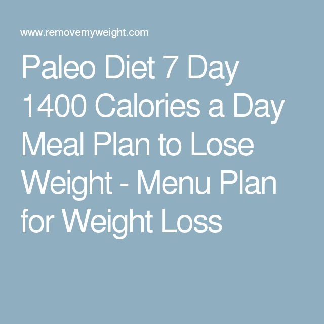 1400 calories a day weight loss