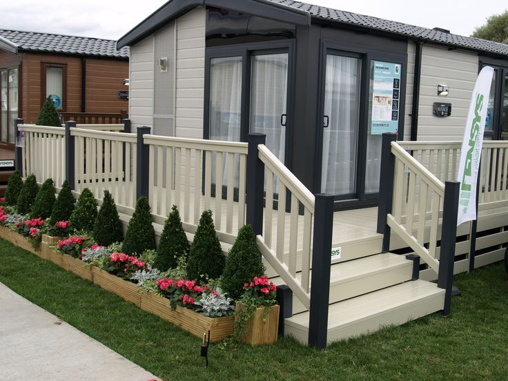 Fensys dark grey and cream holiday home decking