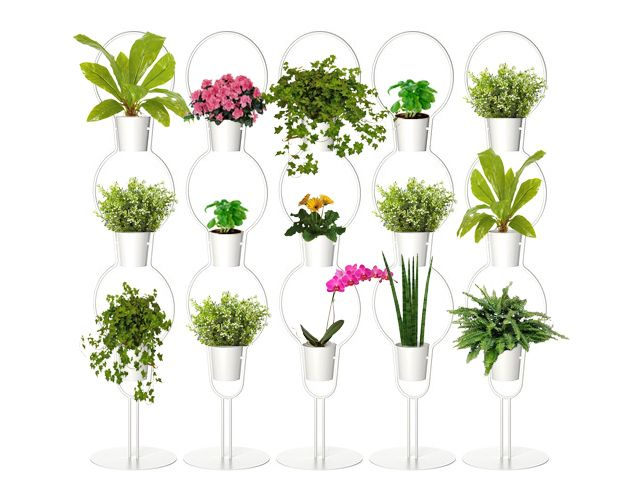 DIY: How to Make Your Own Vertical Garden Room Divider Using Inexpensive Ikea Plant Stands