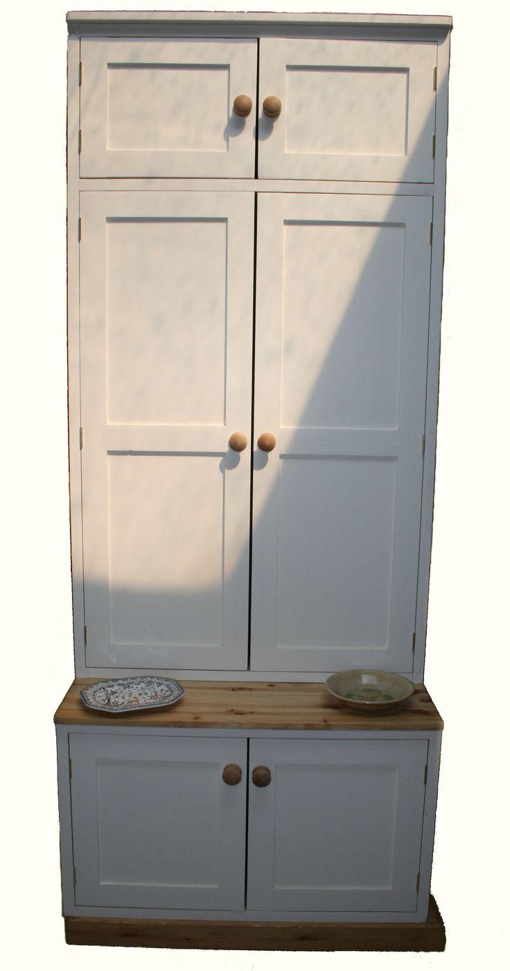 Custom made pine dresser manufactured in Cornwall.